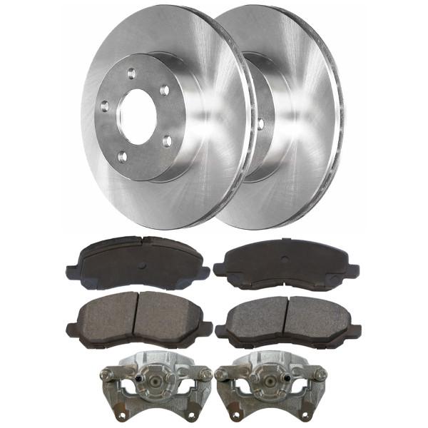 Front Brake Calipers Performance Ceramic Pads Rotors Kit, Driver and Passenger Side - Part # BCPKG00049