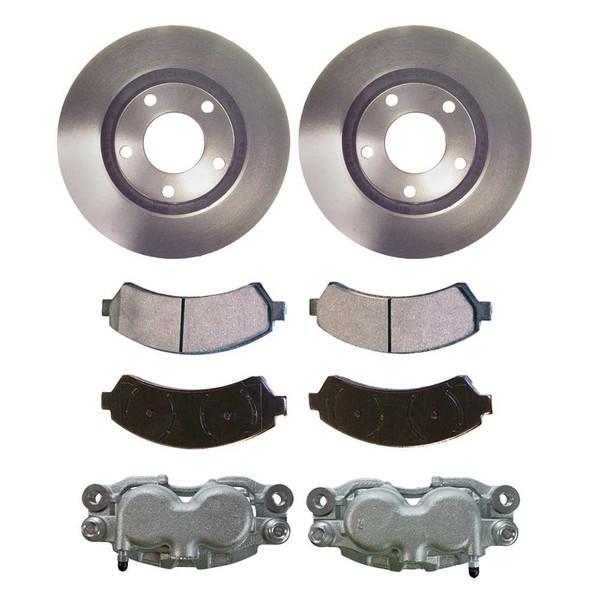 [Front] Calipers w/Rotors&Semi Metallic Brake Pads Set - Part # BCPKG00677