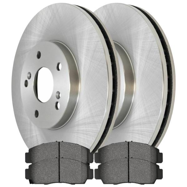 BRAKEPKG10072- 2 Premium Rotors and 4 Ceramic Brake Pads - Part # BRAKEPKG10072