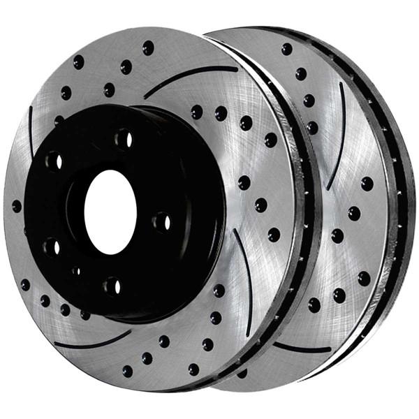 Front and Rear Ceramic Brake Pad and Performance Rotor Bundle - Part # BRAKEPKG1155