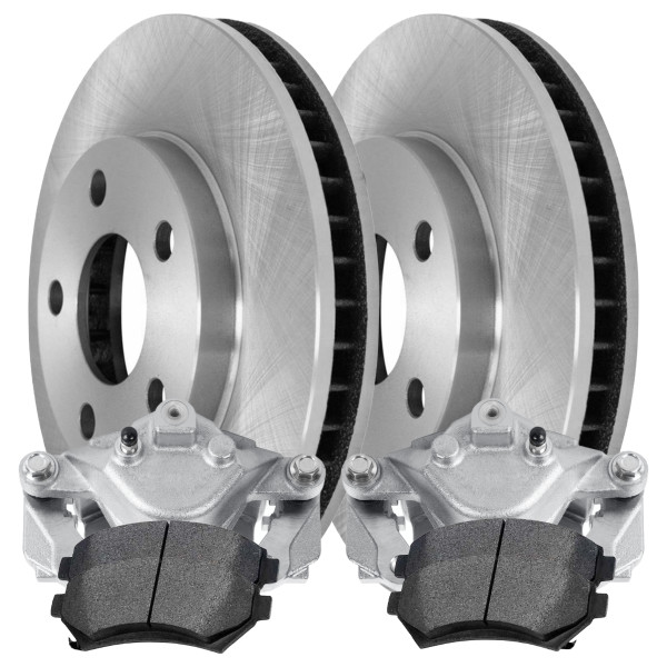 2 Brake Calipers 4 Ceramic Brake Pads 2 Rotors - Not Rebuilt -No Core - Part # BRAKEPKG1188