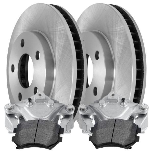 2 Brake Calipers 4 Ceramic Brake Pads 2 Rotors - Not Rebuilt -No Core - Part # BRAKEPKG1188