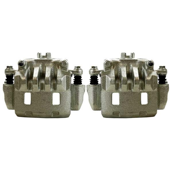 Front Disc Brake Caliper Ceramic Brake Pad and Performance Rotor Bundle - Part # BRAKEPKG1208