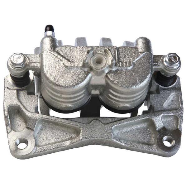 Front Drilled Slotted Brake Rotors Calipers Ceramic Pads for 03-06 Subaru Baja - Part # BRAKEPKG1208