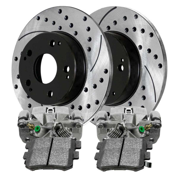 [Rear Set] Performance Brake Rotors Calipers and Performance Brake Pads - Part # BRAKEPKG1229