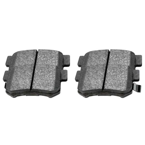 Rear Disc Brake Caliper Ceramic Brake Pad and Performance Rotor Bundle 4 Wheel Disc Metal Piston - Part # BRAKEPKG1229