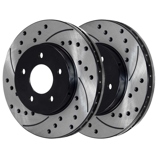 Front and Rear Semi Metallic Brake Pad and Performance Rotor Bundle - Part # BRAKEPKG269