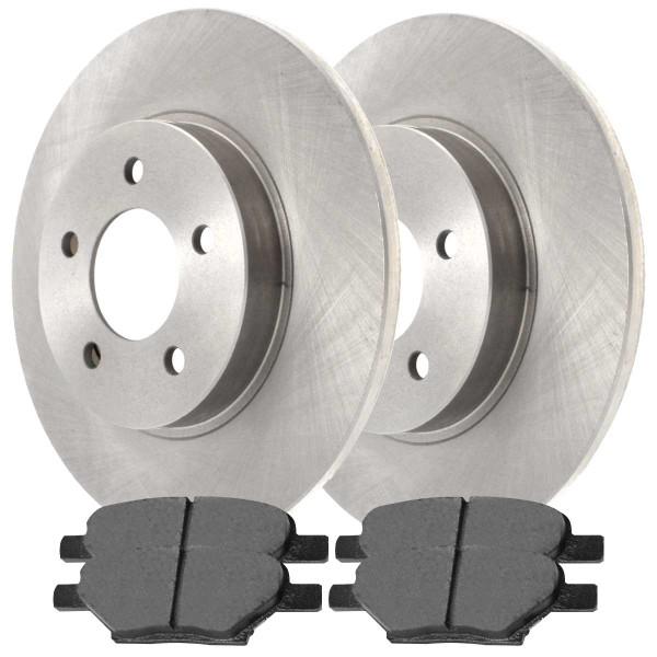 Front and Rear Semi Metallic Brake Pad and Rotor Bundle 296mm Front Rotor Diameter - Part # BRAKEPKG587