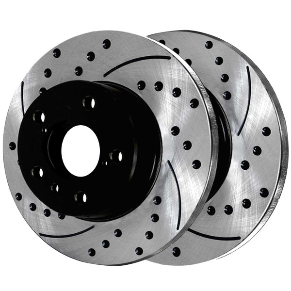 Front and Rear Semi Metallic Brake Pad and Performance Rotor Bundle - Part # BRAKEPKG822