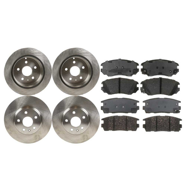 2 Complete Front & Rear Pair 4 Rotors and 8 Performance Ceramic Pads - Part # BRAKEPKG895