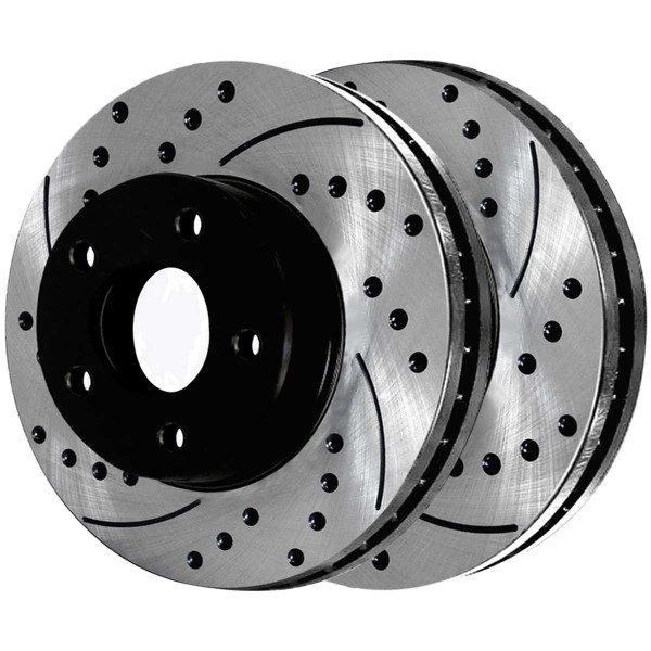 Front and Rear Performance Brake Rotor Bundle 12.60 Inch Front Diameter 12.60 Inch Rear Diameter - Part # BRAKEPPK00001
