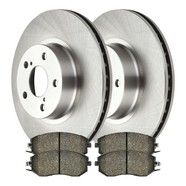 [Front Set] 2 Rotors & 4 Ceramic Pads - Part # BRAKEPPK00054