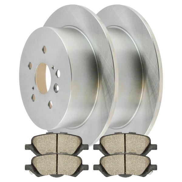 Rear Set of Rotors & Ceramic Pads - Part # BRAKEPPK00123