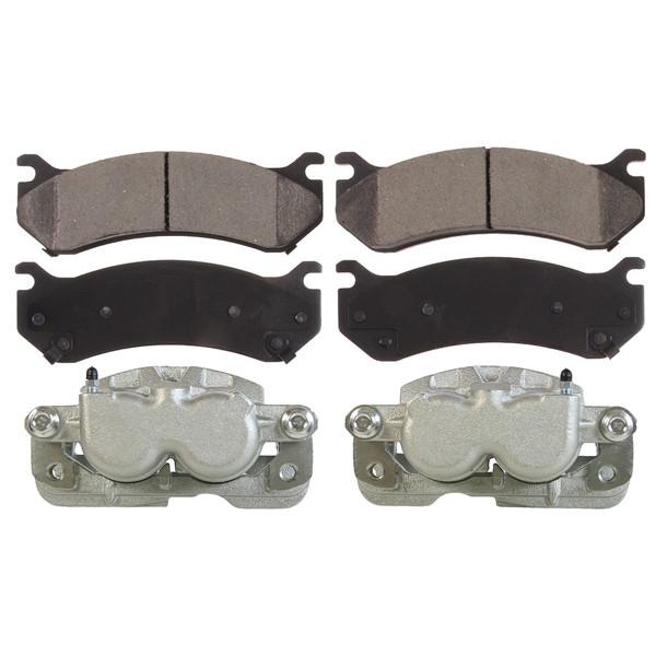 Front Set of Brake Calipers and Ceramic Brake Pads - Part # BRKPKG0016