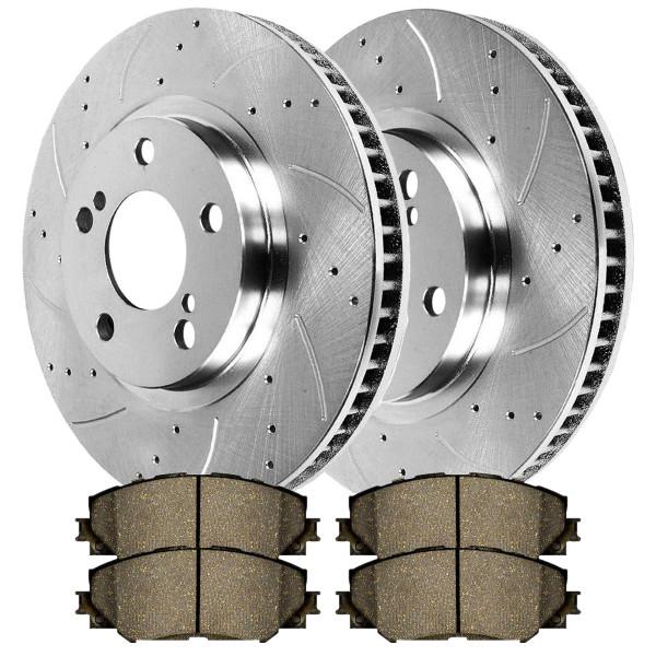 Front set performance Rotors and Performance Pads - Part # BRKPKG002168