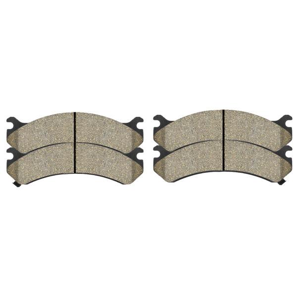 Front Disc Brake Rotors Silver and Performance Ceramic Pads Kit, Driver and Passenger Side - Part # BRKPKG002341