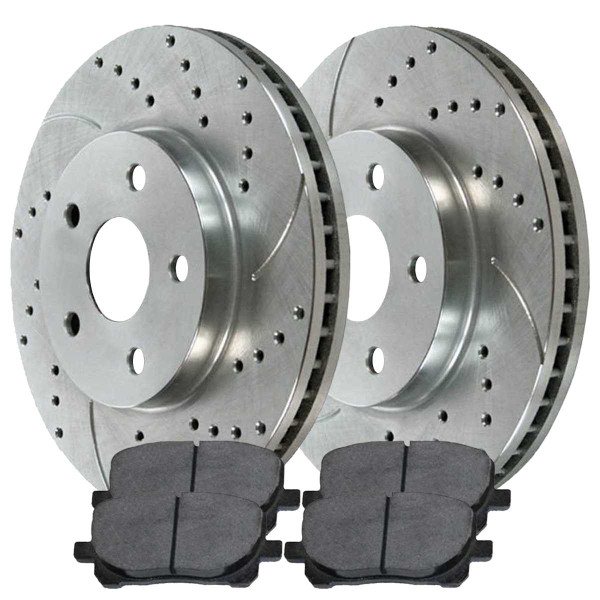 Front Performance Ceramic Brake Pad and Performance Rotor Bundle - Part # BRKPKG002490