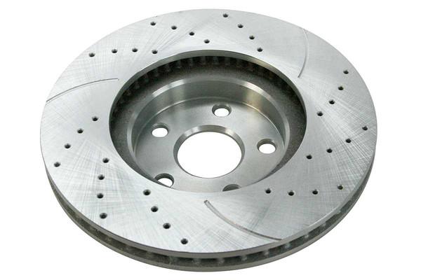 Front Performance Silver Rotors and Semi-Metallic Pads Set - Part # BRKPKG002490