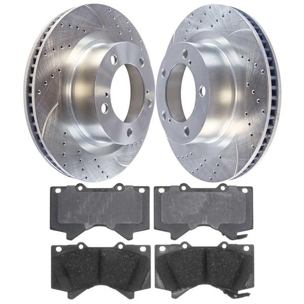 Front Performance Silver Rotors and Ceramic Pads Set - Part # BRKPKG002533