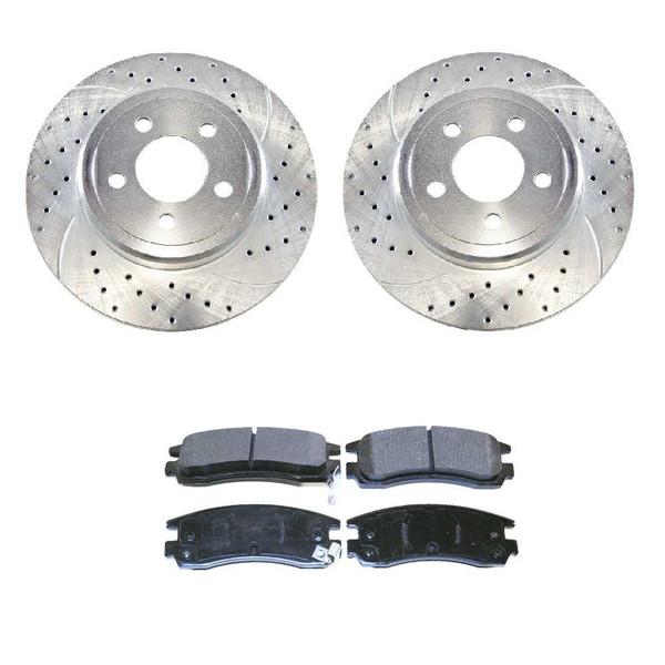 [Rear set] 3 Pieces - 1 Performance Ceramic Brake Pads 2 Silver Performance Brake Rotors - Part # BRKPKG002640