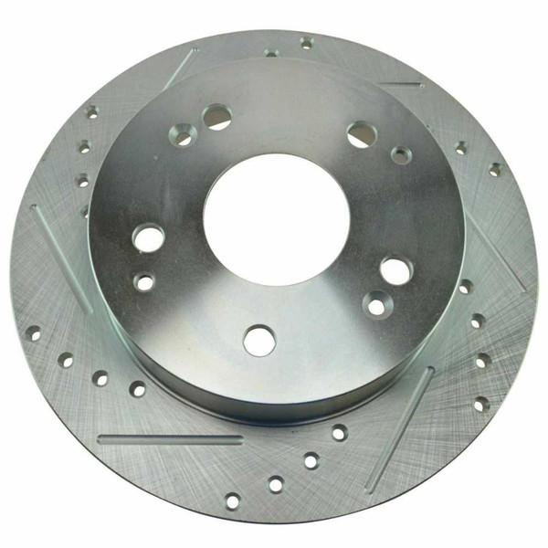 Rear Performance Drilled Slotted Brake Rotors Metallic Pads for 02-06 Acura RSX - Part # BRKPKG002976