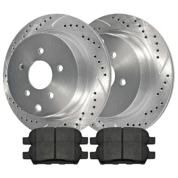 Rear Performance Silver Rotors and Metallic Pads Set - Part # BRKPKG003048