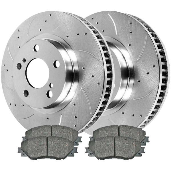 Front Set of Performance Silver Brake Rotors - Part # BRKPKG003135