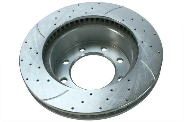 Front Performance Silver Rotors and Ceramic Pads Set - Part # BRKPKG003274