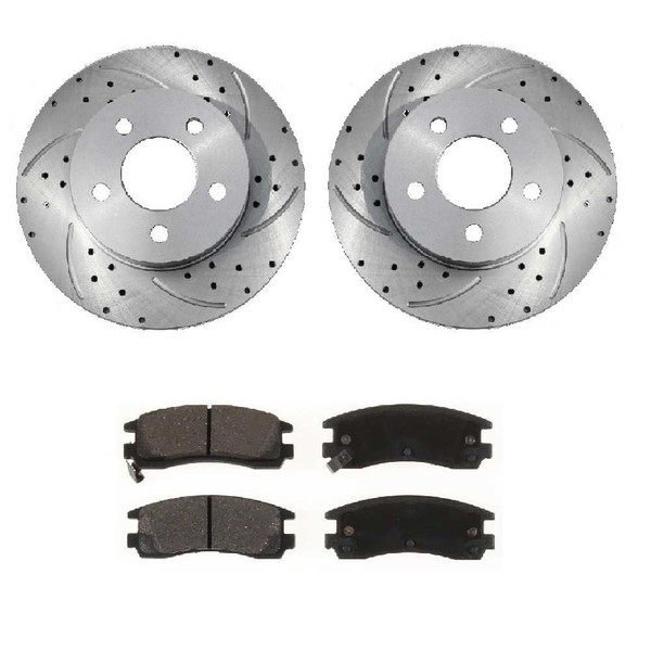 Rear Performance Silver Rotors and Metallic Pads Set - Part # BRKPKG003373