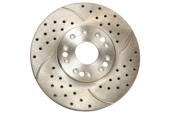 [Front Set] 2 Drilled & Slotted Performance Brake Rotors & 1 Set Ceramic Brake Pads - Part # BRKPKG003499