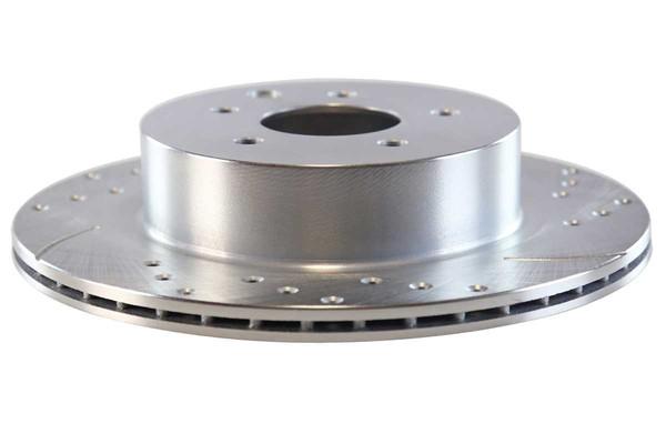 Rear Performance Silver Rotors and Ceramic Pads Set - Part # BRKPKG003675