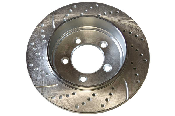 Rear Set of Performance Brake Rotors & Ceramic Brake Pads - Part # BRKPKG003978