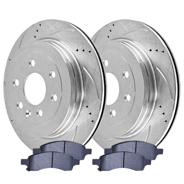Front Performance Silver Rotors and Semi-Metallic Pads Set - Part # BRKPKG004073