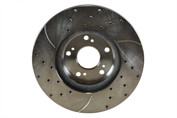 [Front] - Drilled&Slotted Rotors w/Ceramic Pads Set - Part # BRKPKG004167