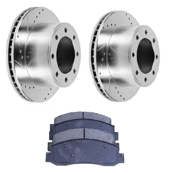 Front Set of Performance Brake Rotors & Ceramic Brake Pads - Part # BRKPKG004192