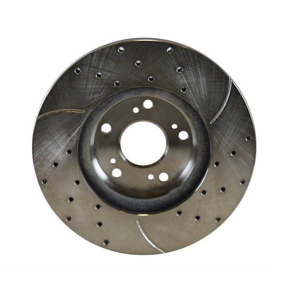 [Front] - Drilled&Slotted Rotors w/Ceramic Pads Set - Part # BRKPKG004267