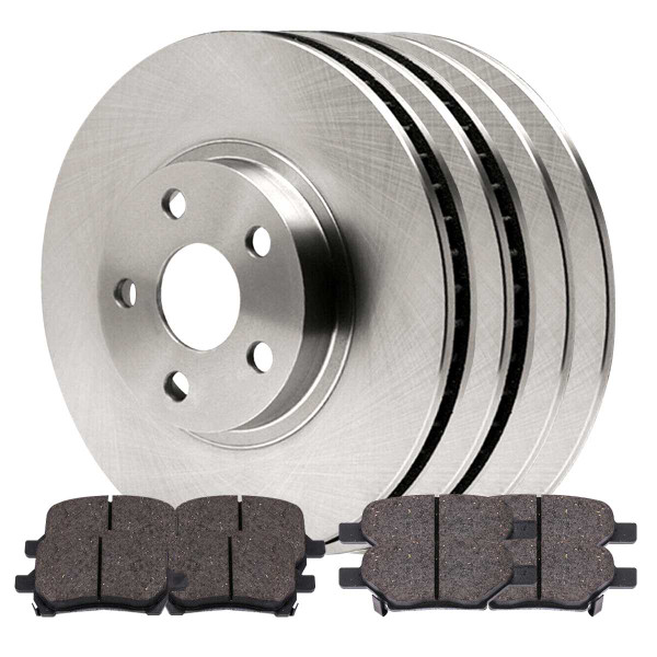 2 Complete Front & Rear Pair 4 Rotors and 8 Performance Ceramic Pads - Part # BRKPKG0220