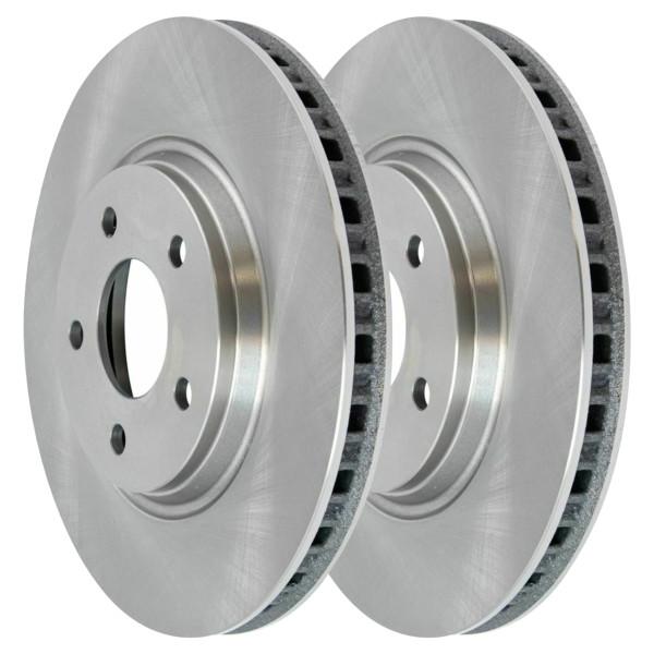 Front Disc Brake Rotors and Performance Ceramic Pads Kit, Driver and Passenger Side - Part # BRKPKG0242