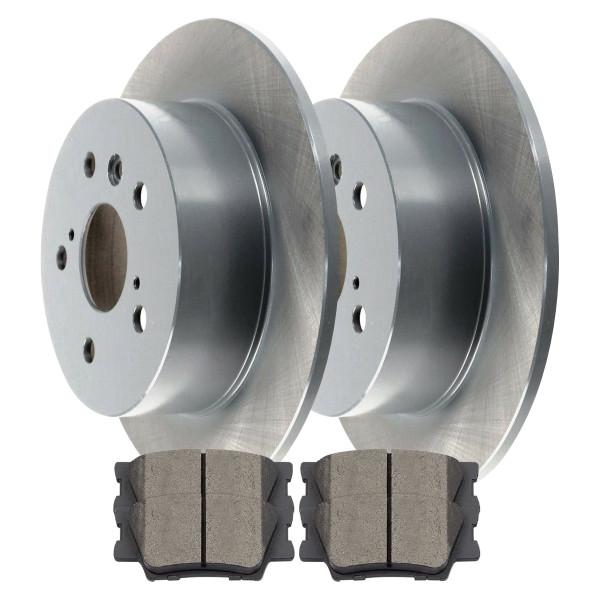 Rear Disc Brake Rotors and Ceramic Pads Kit, Driver and Passenger Side - Part # BRKPKG0247