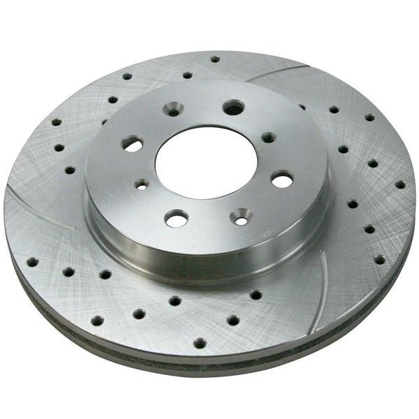 Set of Performance Silver Brake Rotors and Ceramic Pads - Part # BRKPKG039459