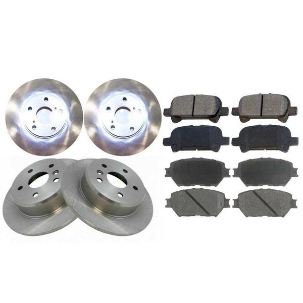 Front Rear Brake Rotors Ceramic Pads for 02-03 Toyota Camry 3.0L SE XLE - Part # BRKPKG0409