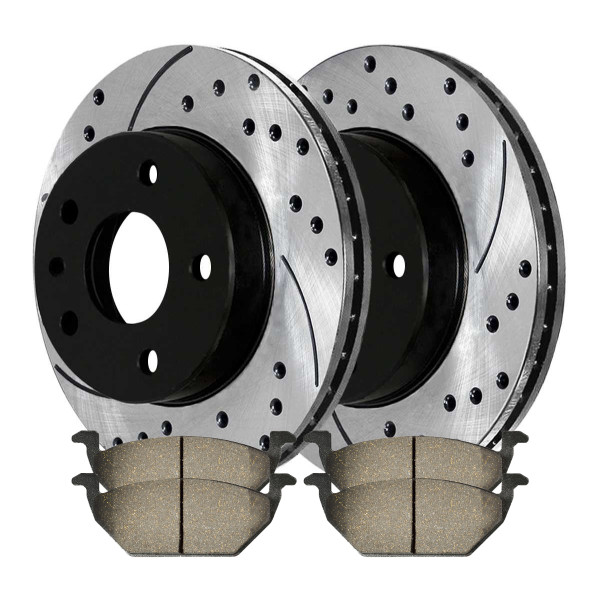 [Set] 2 Front Performance Rotors & 4 Ceramic Pads - Part # BRKPKG0412