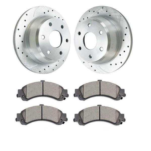 Rear Set of Performance Rotors and Brake Pads - Part # BRKPKG052148