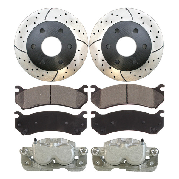 Package of Brake Calipers Performance Rotors and Ceramic Brake Pads - Part # BRKPKG0849