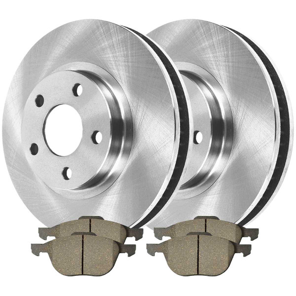 Front Semi Metallic Brake Pad and Rotor Bundle - Part # BRKPKG0955