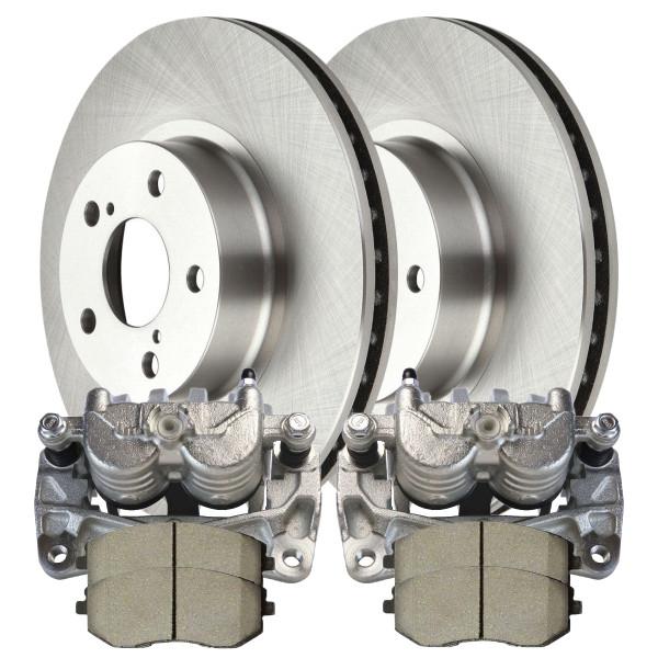 Package of Brake Calipers Rotors and Ceramic Brake pads - Not Rebuilt -No Core - Part # BRKPKG100116