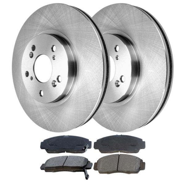 [Front Set] 2 Brake Rotors & 1 Set Ceramic Brake Pads - Part # BRKPKG763