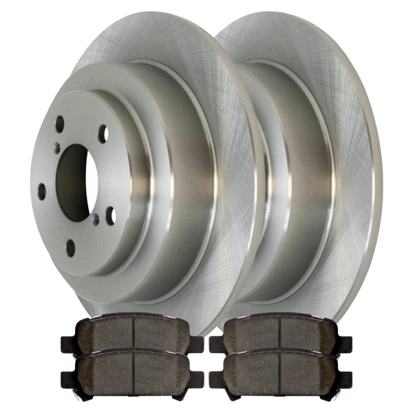 [Rear Set] 2 Brake Rotors & 1 Set Ceramic Brake Pads - Part # CBO41045770C32
