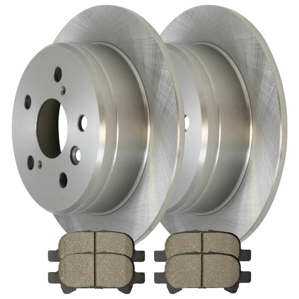 [Rear Set] 2 Brake Rotors & 1 Set Ceramic Brake Pads - Part # CBO41077828