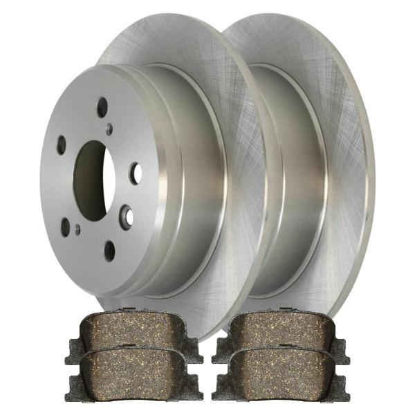 [Rear Set] 2 Brake Rotors & 1 Set Ceramic Brake Pads - Part # CBO41077835CES
